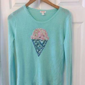 Cat & jack sequin ice cream sweater kids girls L